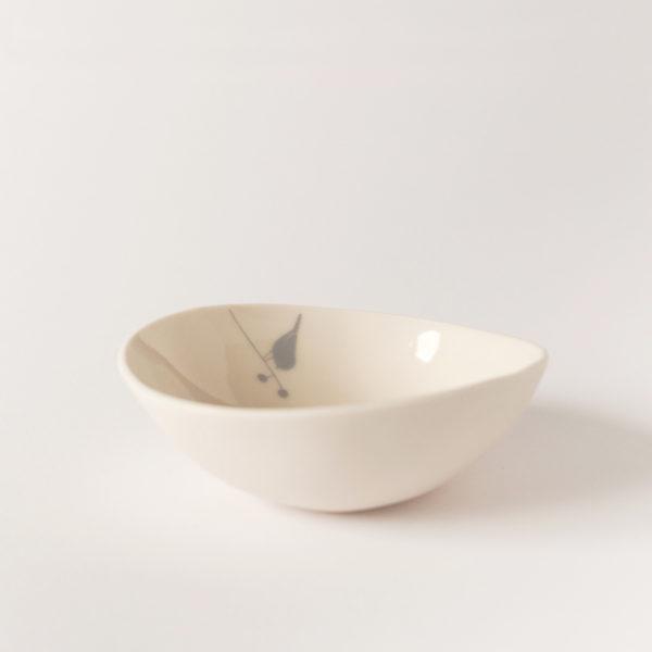 illustrated ceramic Bowl with bird