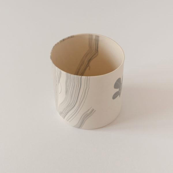 illustrated ceramic vase (inside)