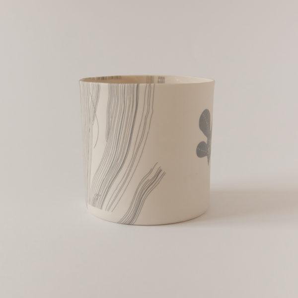 illustrated ceramic vase