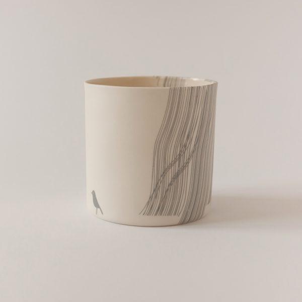 illustrated ceramic vase (detail)