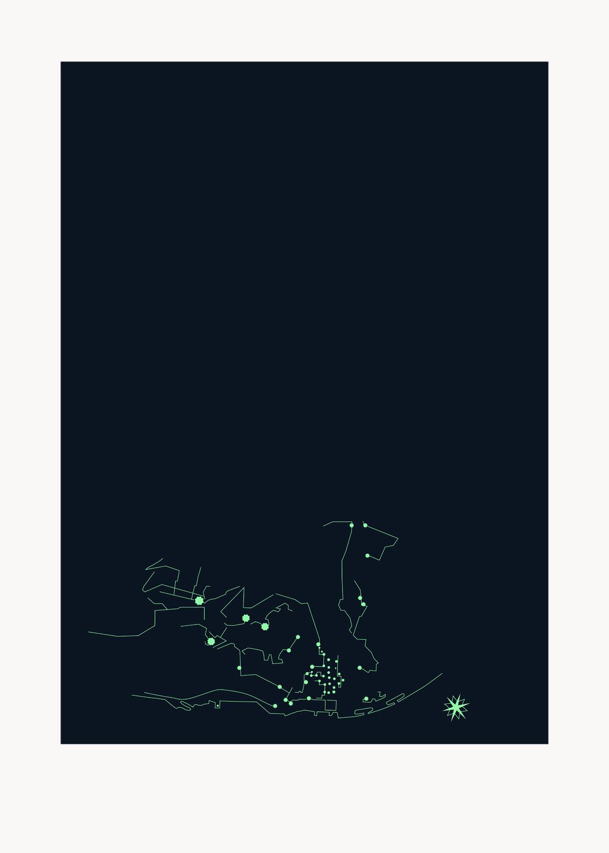 Fernando Pessoa screenprint (night vision)