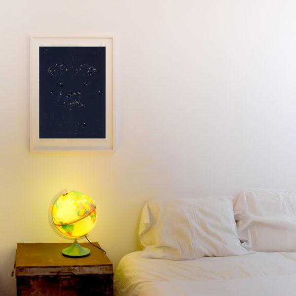 Screenprint Fernando Pessoa -decor